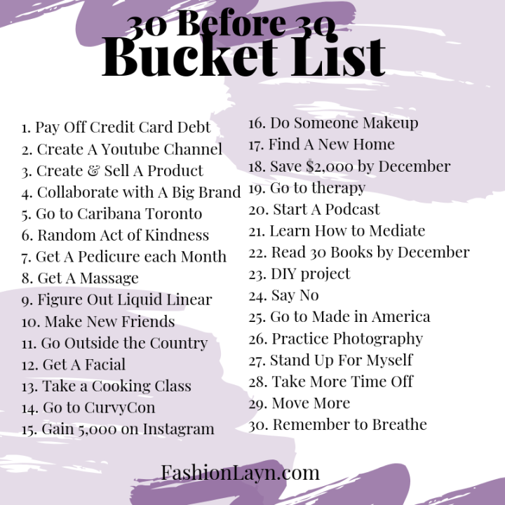 30 Ways To Spend The Last Year of My 20s (1)