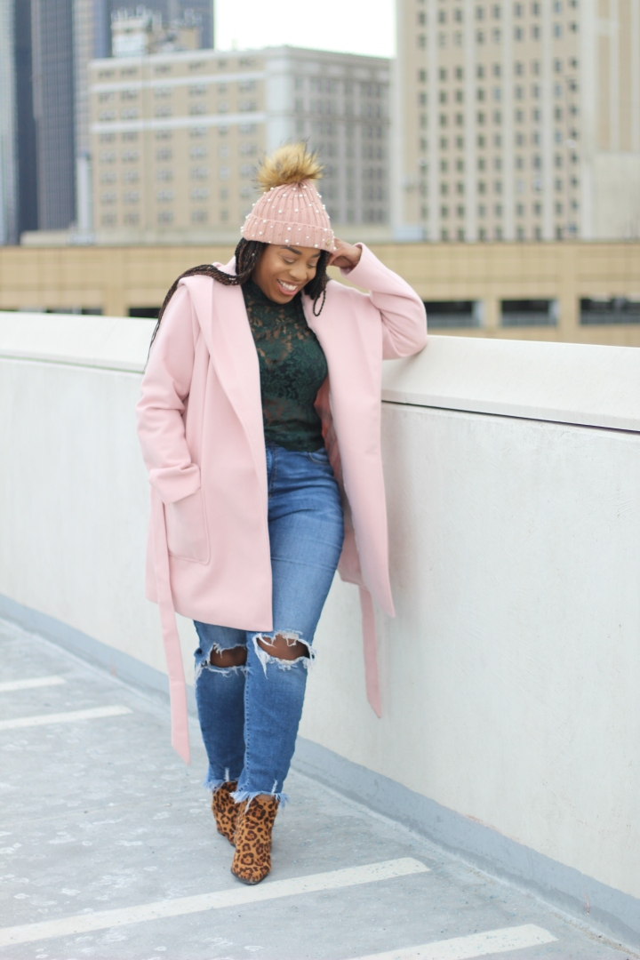 Street Style Fashion in Pink & Green