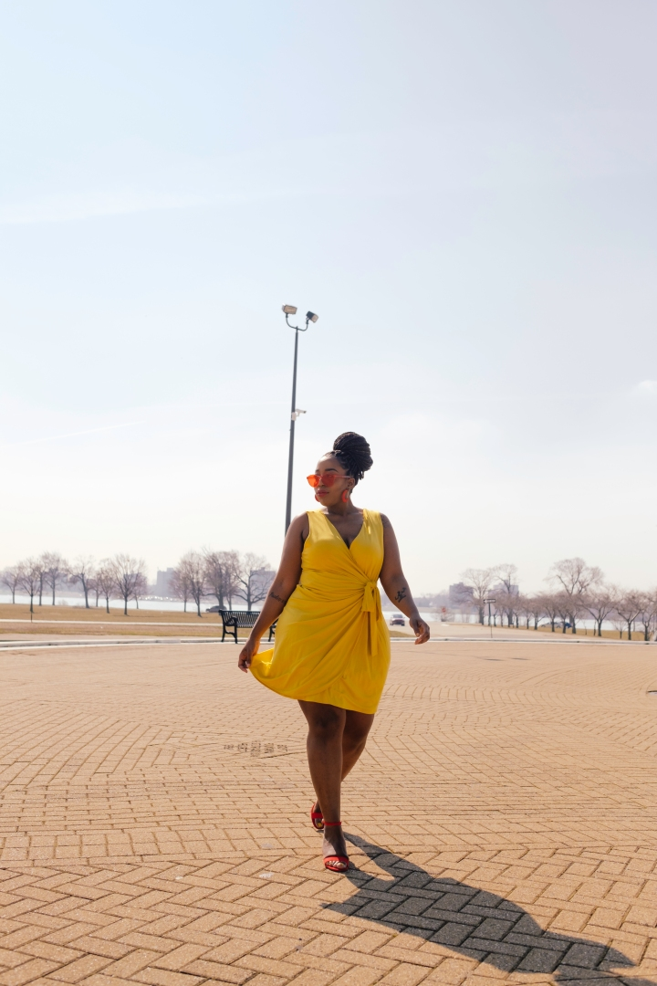 Yellow is My It Color  | Wrap Dress from Target
